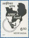 Inauguration of Africa Fund (click for stamp information)