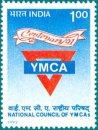 Centenary of National Council of YMCAs of India (1991) (click for stamp information)