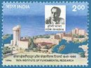 50th Anniversary of Tata Institute of Fundamental Research, Bombay (click for stamp information)