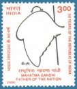 50th Anniversary of Republic (1st Issue) - Tribute to Mahatma Gandhi (click for stamp information)