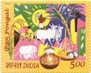 Pongal Festival, Tamilnadu (click for stamp information)