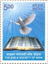 The Bible Society of India (click for stamp information)